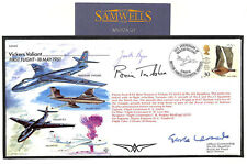 MS2650 1996 RAF Vickers Valiant Cover Signed TEST PILOTS Trubshaw Edwards Bryce