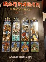 IRON MAIDEN LEGACY OF THE BEAST 2019 TOUR BOOK 8/3/19 and KILLERS XL SHIRT!!