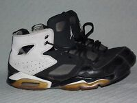 a160ae4412c3 Youth NIKE Jordan Flight Club  91 Black White 555472-010 Athletic Shoes Size