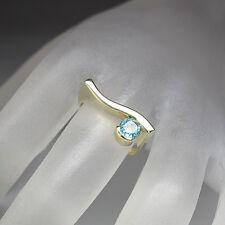 Ring mit ca. 0,50ct Blautopas in 585/14K Gelbgold