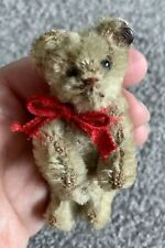 "RARE ANTIQUE Circa 1910 STEIFF MINIATURE ONCE WHITE  ? BEAR 3"" FF Long f Button"