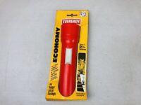 New Orange Plastic EVEREADY Union Carbide Vintage Classic Flashlight Made In USA