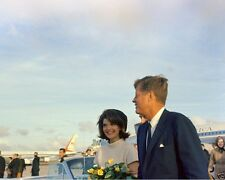 President John F. Kennedy and Jackie at airport in Houston Texas New 8x10 Photo