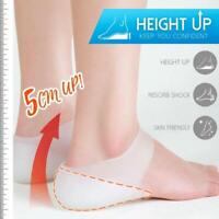 New Concealed Footbed Enhancers Invisible Height Increase Silicone Insoles AU