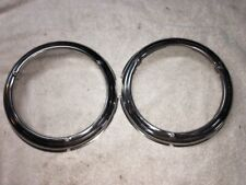 1946 47 48 Plymouth Headlamp Bezels, One Set Right And Left Side Mopar NOS