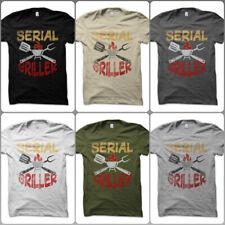 T-Shirt Maglietta Serial Griller Tools BBQ King Spiritosa Grigliata Festa Uomo