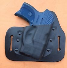Leather/kydex hybrid OWB holster for Ruger LC9, LC380, LC9s, EC9s W/ Laser