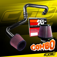01-05 Honda Civic Automatic 1.7L Black Cold Air Intake + K&N Air Filter