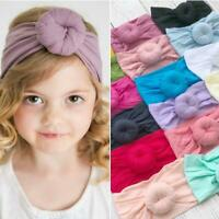Baby Girl Donuts Headbands Nylon Turban Knot Stretchy Headwrap Newborn Toddler