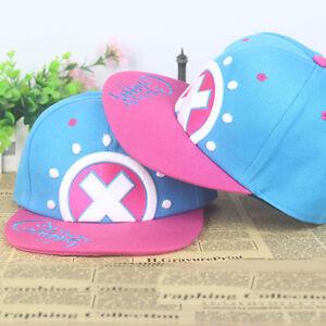 Anime One Piece Tony Chopper Logo Cotton Baseball Cap Sun Hat Casquette Cosplay