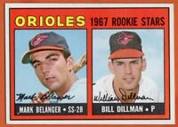 1967 Topps #558 Mark Belanger EX+ WRINKLE Rookie RC Baltimore Orioles FREE SHIP