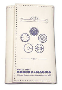 *Legit* Madoka Magica Authentic Anime Icons Logo Keyholder Trifold Wallet #37002