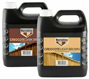 Bartoline Creocote Creosote Oil Based Timber Shed Fence Trellis Stain 4 Litre