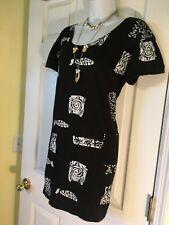 Women's Medium 6 8 10 Fish Print Snorkling Dress Suit Cover-Up Top Long Shirt
