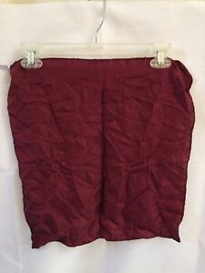 Vintage Pocket Square 100% Silk Made In Italy Burgundy Red 16 inch WPL 2831