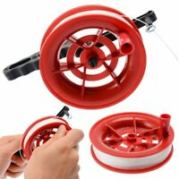100m Flying Kite White Line String with Plastic Reel Handle Winder Grip Wheel