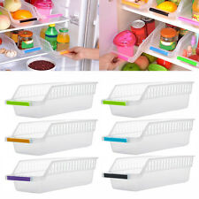 Slide Kitchen Fridge Freezer Space Saver Organizer Storage Rack Shelf Holder AU