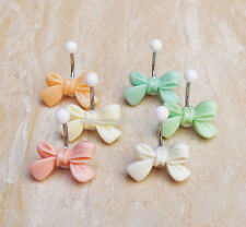 2pcs Handmade Bow belly button jewelry Cute belly ring Body piercing Jewelry