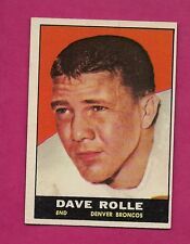 1961 TOPPS # 197 BRONCOS DAVE ROLLE ROOKIE NRMT CARD (INV# A4121)