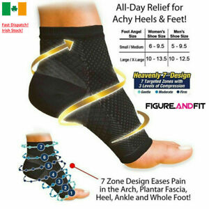 Mens Womens Ankle Support Brace Foot Sleeve Running Copper Compression Socks
