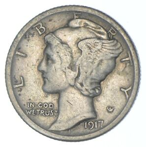 1917-D Mercury Dime - Charles Coin Collection *316