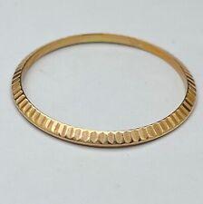 Rolex 18k Gold  Fluted Bezel for 34mm Watch Original 33.3mm