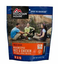 1 - Mountain House Freeze Dried Food Pouch - Mexican Style Rice & Chicken