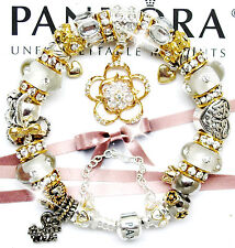 Pandora Bracelet Silver Wife Gold Angel European Charms Pandora Gift Set New