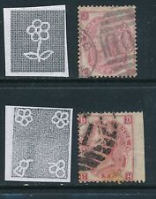 GB, 1865-67 3d wmk emblems + 3d wmk Rose plate 4, both perf faults, cat £550