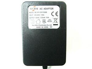 1250ma 12v AC-AC (AC Output) Power Adaptor/Supply/Charger (1.25a, 15w, 15va)