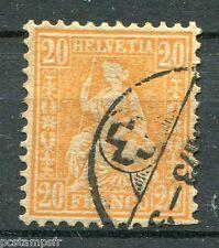 SUISSE SCHWEIZ 1862, timbre CLASSIQUE n° 37, HELVETIA, assise, oblitéré, STAMP