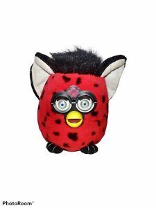 Furby Plush Stuffed Toy Big Eyes Spotted Lady Bug Red Black Red 1999 Nanco FUC