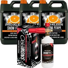 ProKleen Orange Snow Foam With Snow Foam Lance Pressure Washer Car Shampoo