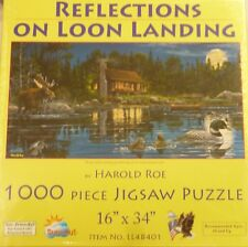 Sunsout 1000 Pc Jigsaw Puzzle Relections On Loon Landing 16X34""