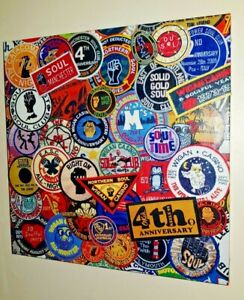original handmade northern soul patch print picture