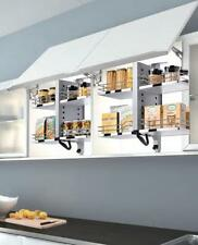 Pull Down Kitchen Wall Cabinet Shelf System 2 Tier Storage Shelves Soft Close