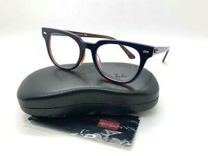 Ray-Ban RB 5377F 5910 DARK BLUE/TORTOISE Eyeglasses Frames 52-20-150MM