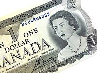 1973 Canada One Dollar BCU Prefix Circulated Elizabeth Canadian Banknote L360