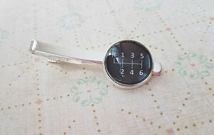 18 mm Black and white Gear Stick  tie clip ,Mens Accessories