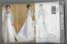 BUTTERICK 4289 MISSES WEDDING DRESS WITH DETACHABLE TRAIN PATTERN SZ 6 - 12