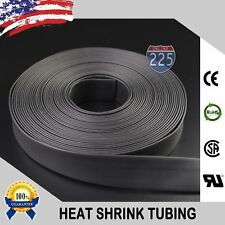 "3"" Heat Shrink Tubing 1 - 80ft. Black Polyolefin 2:1 Marine Wire Sleeving Lot"