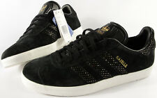 ADIDAS ORIGINALS Gazelle Womens shoes-10-NEW-W black Gold Suede classic ad96943cf