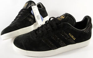 ADIDAS ORIGINALS Gazelle Womens shoes-10-NEW-W black/Gold Suede classic sneakers