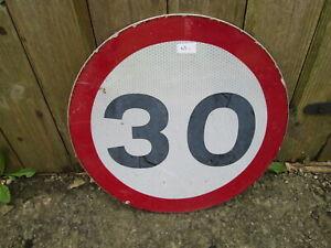 30 MPH road sign 30 cm diameter  traffic sign.street sign.