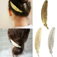 Women Leaf Feather Hair Clip Hairpin Barrette Bobby Pin Hair Accessories La BEST