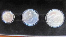 1981 Greece 100 250 500 Drachma 1982 Silver Mint Set & COA