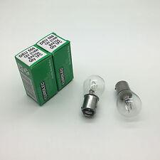 2 x Eurolec 566 P21/4W Brake Stop Light Car Bulbs 12v 21/4w BAZ15D Offset Pins