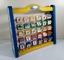 """Vintage Redbox Alphabet/Words/Numbers 12"""" X 12"""" Kids Flip Block Educational Toy"""