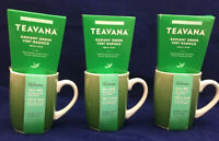 3 Starbucks Teavana Green Tea Gift Sets Ceramic Coffee Cup Mugs 10 Oz NEW