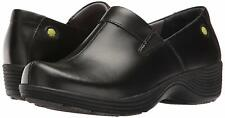 Work Wonders by Dansko Womens Coral Closed Toe Clogs, Black Leather, Size 9.5 so